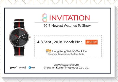 Hong Kong Watch&Clock Fair, 4-8 Sept., 2018 Booth:3F-B02