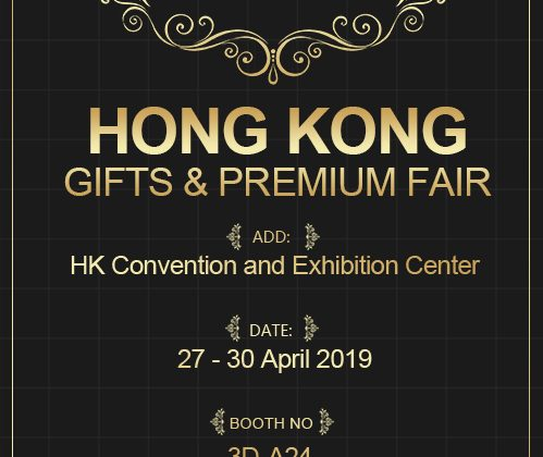 HongKong Gift&Premium Fair 27-30 April 2019, Booth:3D-A24