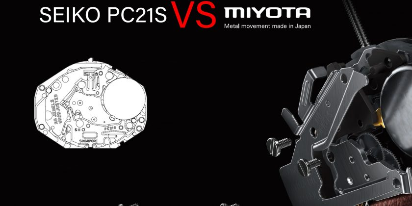 Movement Spec.-Select your own movement, Seiko PC21S with Miyota 2035